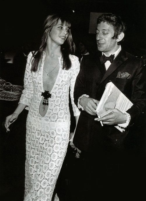 Serge Gainsbourg and Jane Birkin, 1970s.