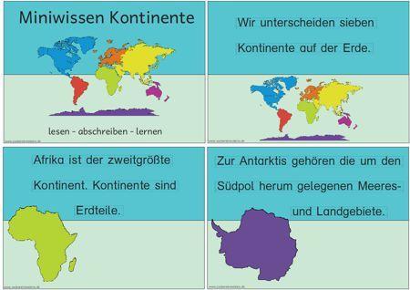miniwissen-kontinente - Zaubereinmaleins - DesignBlog