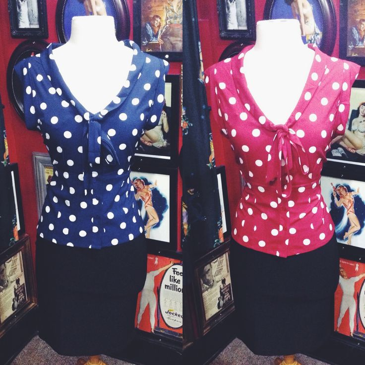 Love these tops, there are so many ways to wear them for adorable rockabilly outfits <3 #blamebetty #polkadot #rockabella