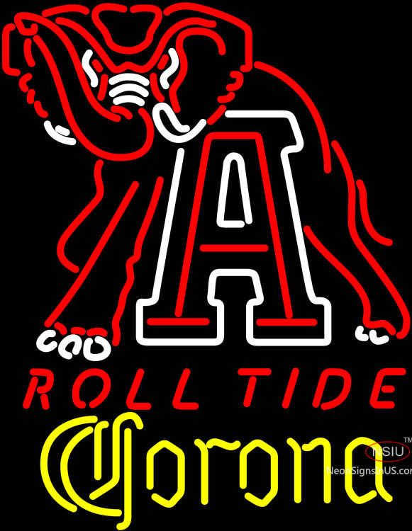 Corona Alabama Roll Tide Real Neon Glass Tube Neon Sign,Affordable and durable,Made in USA,if you want to get it ,please click the visit button or go to my website,you can get everything neon from us. based in CA USA, free shipping and 1 year warranty , 24/7 service