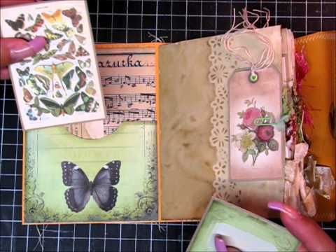 Butterfly Kisses 6x9 Envelope Junk Journal - YouTube