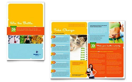 Contoh Pamflet Brosur Klinik Terapi Penuruan Berat Badan Brochure