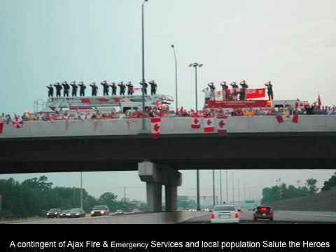 HIGHWAY OF HEROES CANADIAN~Lest we forget