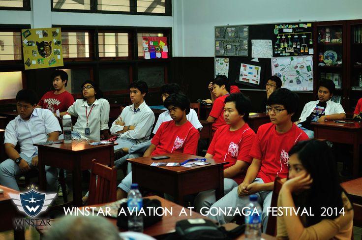 Winstar Aviation sharing mengenai karir dalam dunia penerbangan di Gonzaga Festival, SMA Kolese Gonzaga (30 Okotober 2014)