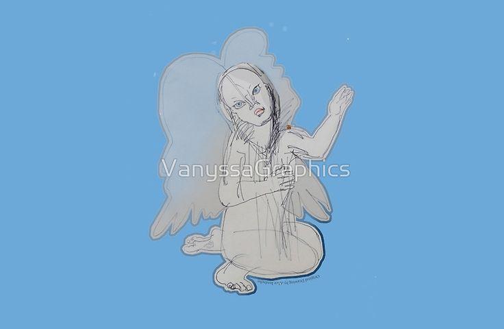 Maya Blue Fairy Angel (Original Art Drawing by Alice Iordache) by VanyssaGraphics