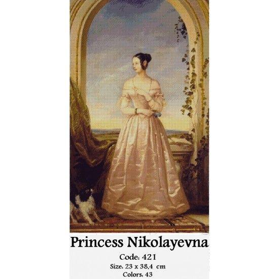 Cross Stitch Kit Princess Nokolayevna http://gobelins-tapestry.com/portraits/868-princess-nokolayevna.html