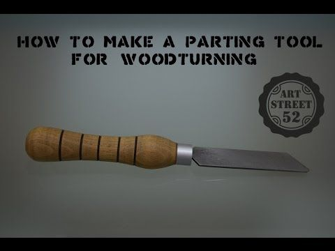 In this video you can see step by step how to make a parting tool for woodturning projects, from an old woodworking circular saw blade.