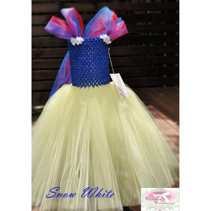 #ladybird2turtle #pinadayoct #tulle $35.00 Age 0 to 2 Snow White Inspired Tutu Dress by carmenscreations on Handmade Australia