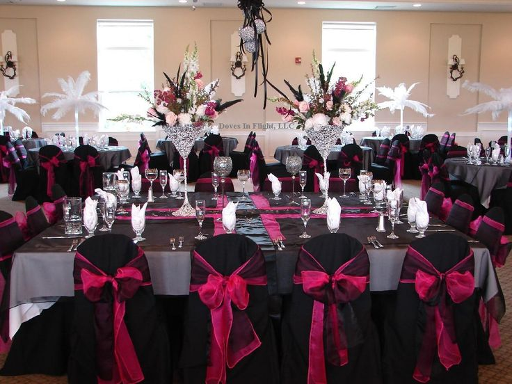 Hot Pink and Black Wedding | Ideas for Black/Hot Pink and bling wedding colors?! | Weddings, Beauty ...