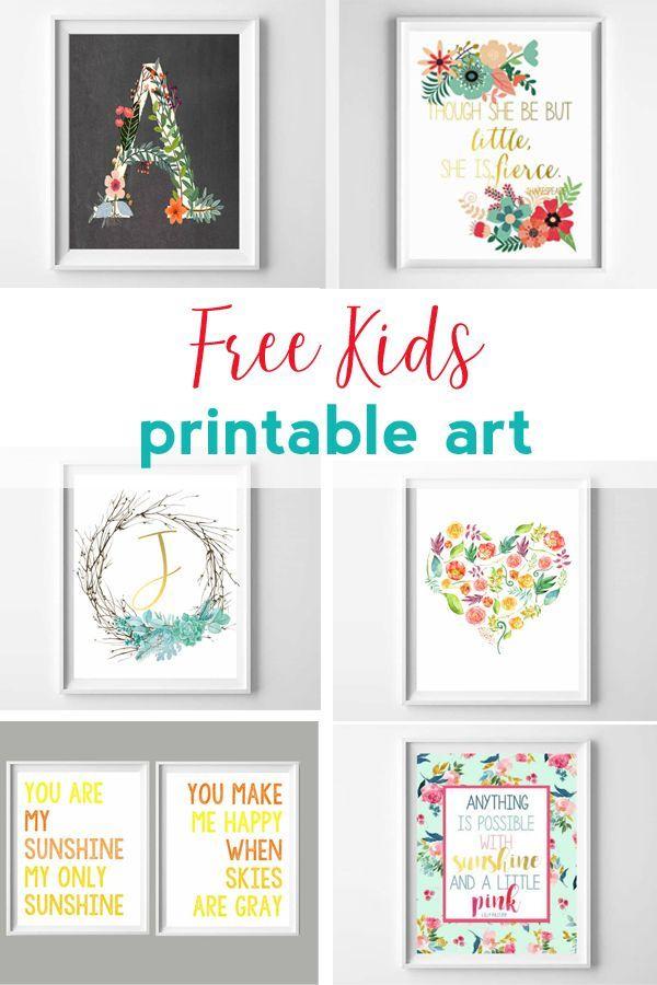 Kids Printables Free Printable Art For Kids And Nurseries Art