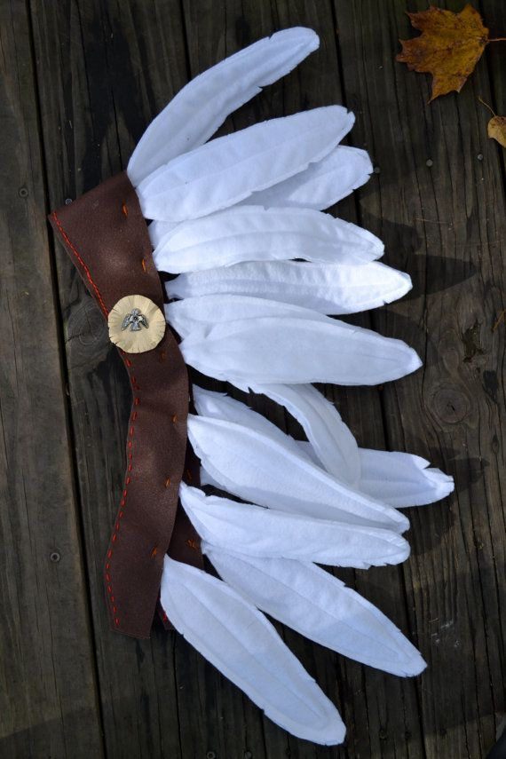 Tocado de plumas indio en fieltro, para disfraz  -   Felt Indian Headdress/Costume