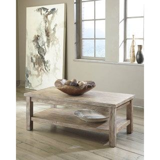 Shop for Signature Design by Ashley Vennilux Bisque Rectangular Cocktail Table. Get free shipping at Overstock.com - Your Online Furniture Outlet Store! Get 5% in rewards with Club O! - 17811601