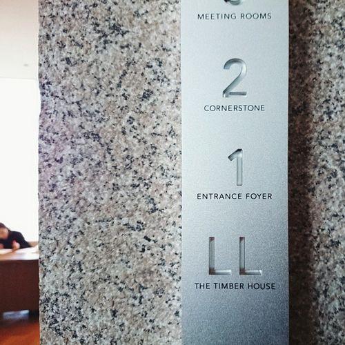 Park Hyatt solid aluminium signage @Andrew Kim instagram