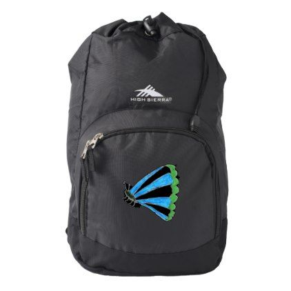 Florence High Sierra Backpack Black Backpack  $34.95  by QuirkyPictures  - custom gift idea