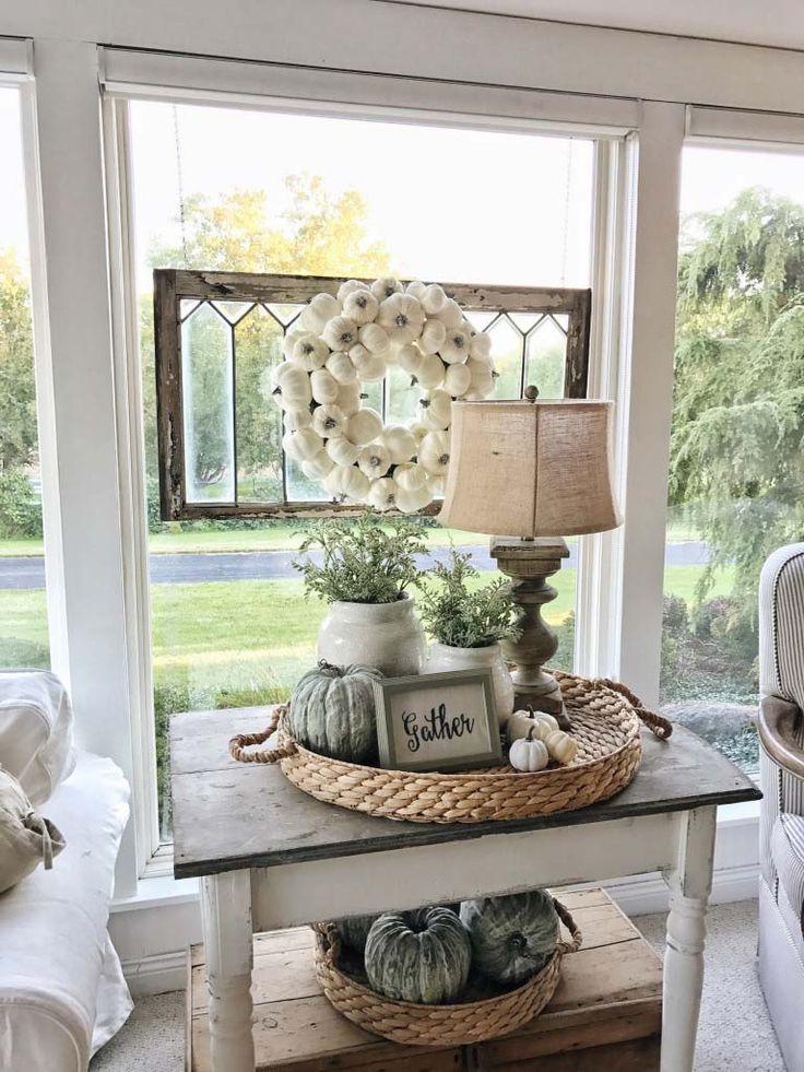 50+ Absolut wunderschöne Bauernhaus Herbst Dekoration Ideen #pinterest #veranda…
