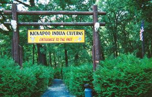 KICKAPOO INDIAN CAVERNS  - Where Adventures of the Past Live on Today!