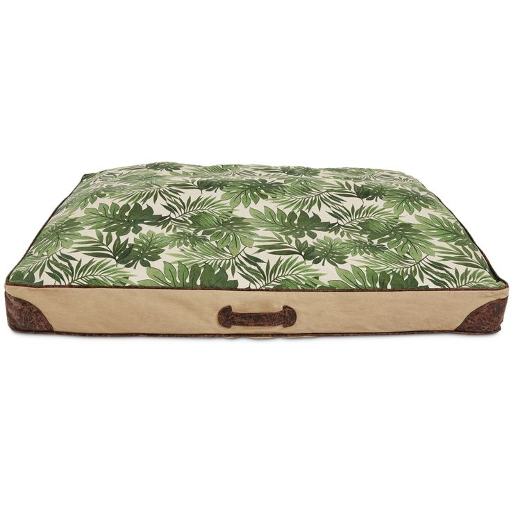 You+&+Me+Tropical+Print+Dog+Bed,+Large+-+The+You+&+Me+Tropical+Dog+Bed+is+the+epitome+of+form+and+fashion.++This+bed+provides+the+comfort+of+any+You+&+Me+bed,+but+also+has+a+beautiful+tropical+print+on+the+cushion.+++The+structured+walls+allow+your+pet+to+rest+their+head+or+burrow+into. - http://www.petco.com/shop/en/petcostore/product/you-and-me-tropical-print-dog-bed-large