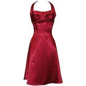 rockabilly Dotty: Red, Style, Polkadot, Bridesmaid Dresses, Satin, Cocktail, Prom Dress, Rockabilly, Polka Dot Dresses