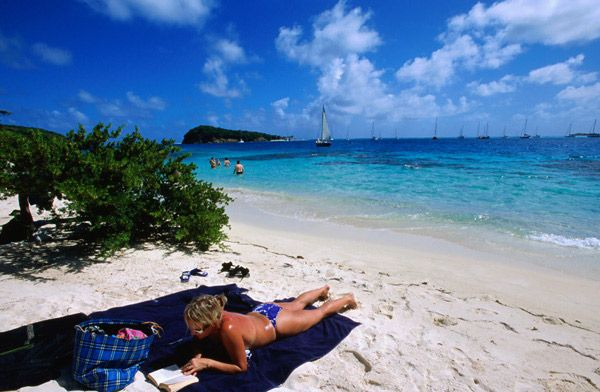Beach in Petit St. Vincent Island, TheGrenadines