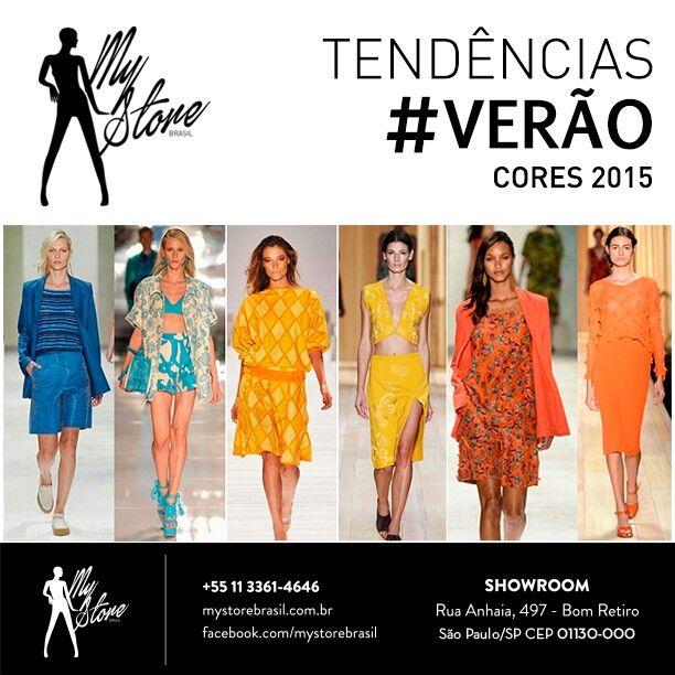 Dicas de verão das passarelas: cores como laranja, amarelo e azul estarão em alta, assim como os looks de um tom só.#verao # mystorebrasil # tendencias