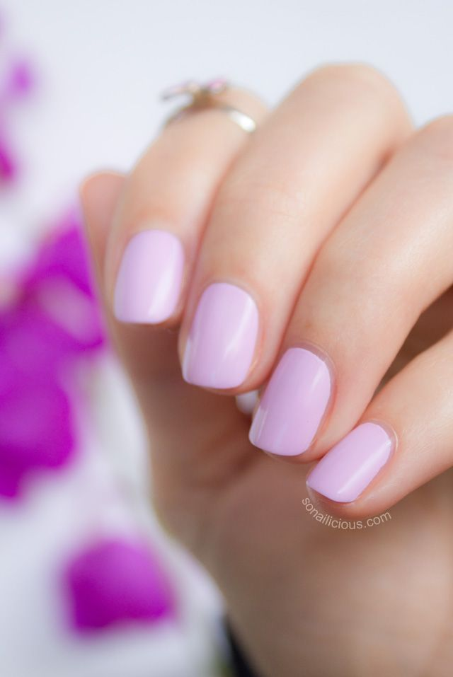 Radiant Orchid (Pantone Color of the Year 2014) - kester black fairy floss nail polish.