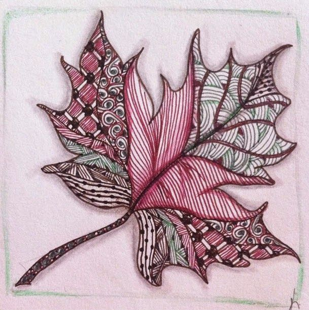 Whimsy by Kelly : Diva Challenge 186- String theory Leaves, leaves leaves!