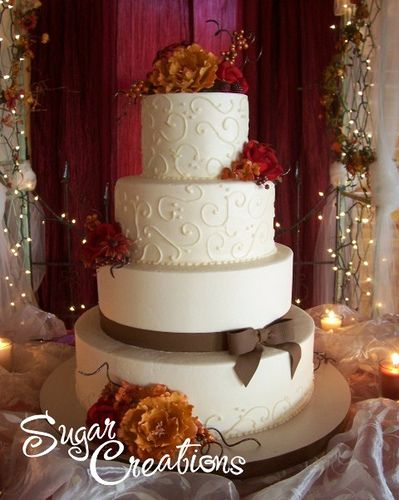 fall wedding cakes | Pictures Of Fall Wedding Cakes (Photo by: Rebecca Sutterby )
