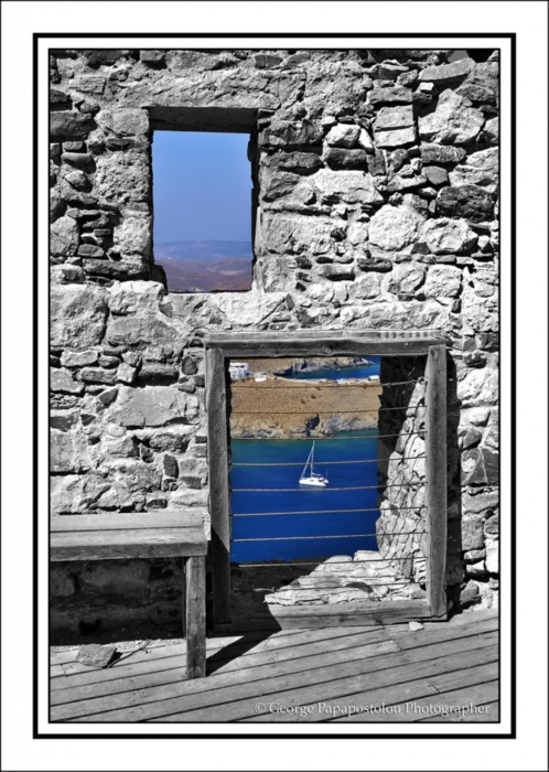 Window views in Astypalaia