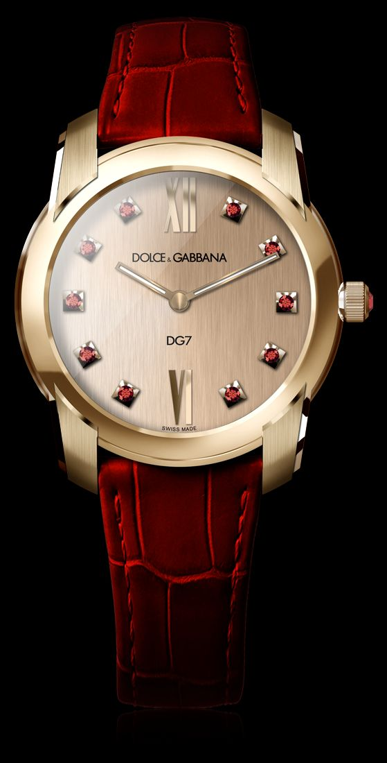 Women's Watch - Gold and Gems Rubies - D&G Watches   Dolce & Gabbana Watches for Men and Women