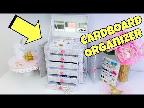 Original and creative Ideas(cardboard organizer)jewelry holder - YouTube