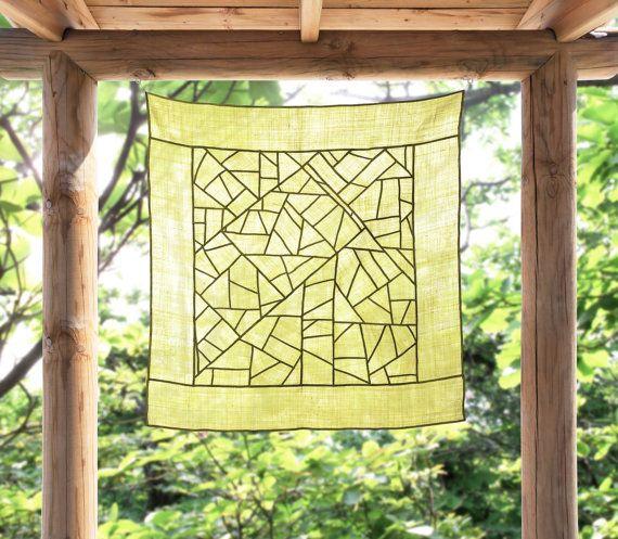 Modernized traditional Korean Fabric art and décor, Jogakbo - Sheer shade/ space décor on Etsy, $670.00