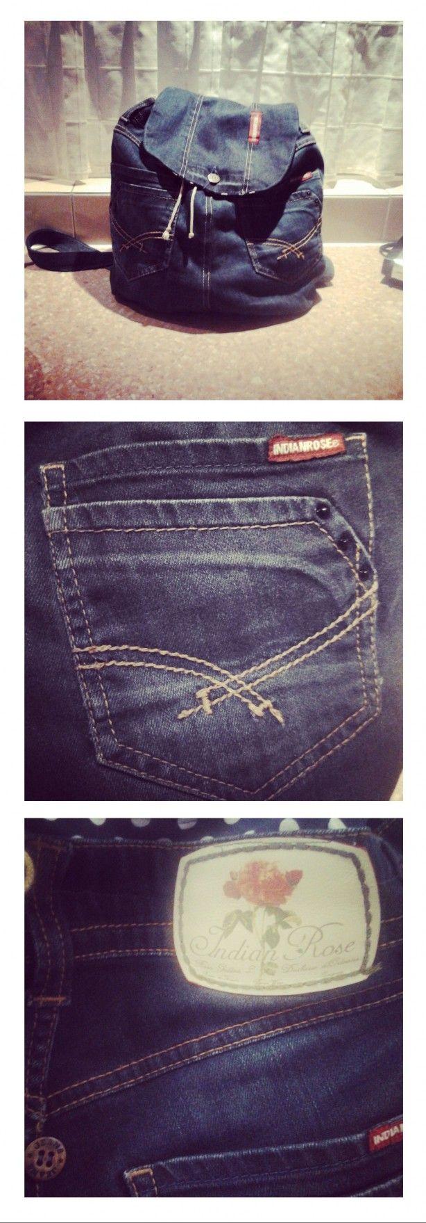 Mijn eigen spijkerbroekrugzak van een oude jeans!