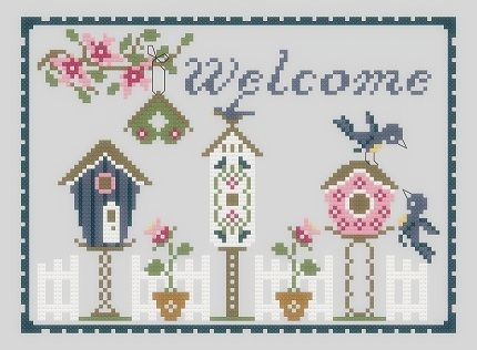 Stitcheree!: Bluebird Welcome free pattern