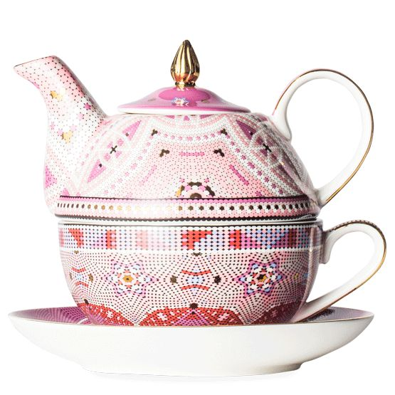 Do The Dotty Pink Tea For One