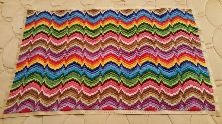 My sixth Bargello finished!!!!❤