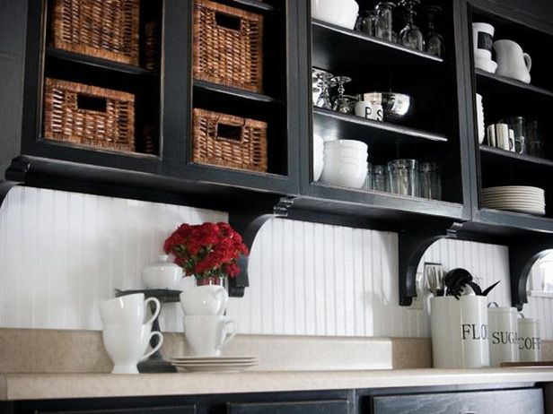 White Beadboard With Black-Painted Cabinetry. http://www.hgtv.com/kitchens/beautiful-backsplashes/pictures/page-13.html?soc=pinterest