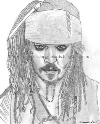 "Johnny Deep en ""Piratas del Caribe"""