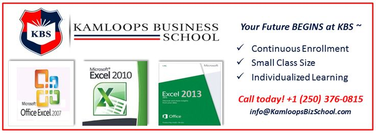 Upgrade your skills with #Microsoft #Excel by taking one of our self-paced training classes - Start October 14th, 2014.  The Level 1 course takes 20 hours and costs $290.00   Call us! +1(250) 376-0815 or info@KamloopsBizS... Visit our website for more information: www.kamloopsbusin... *Prices subject to change