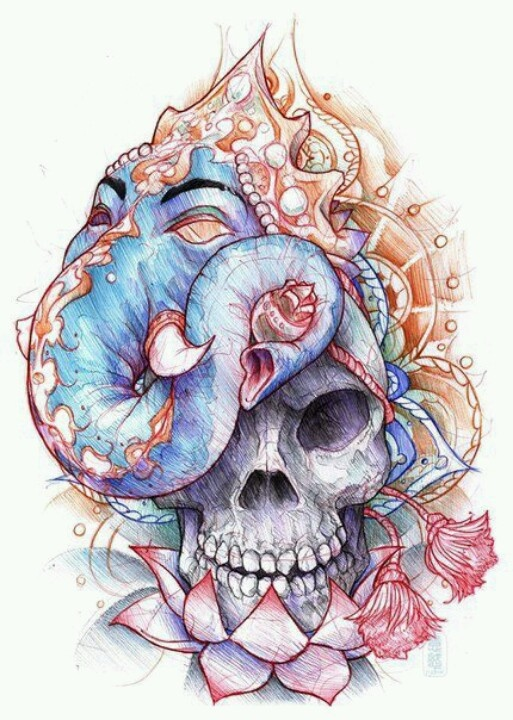 25 best ideas about skull tattoo design on pinterest skull tattoos neo traditional and thigh tat. Black Bedroom Furniture Sets. Home Design Ideas