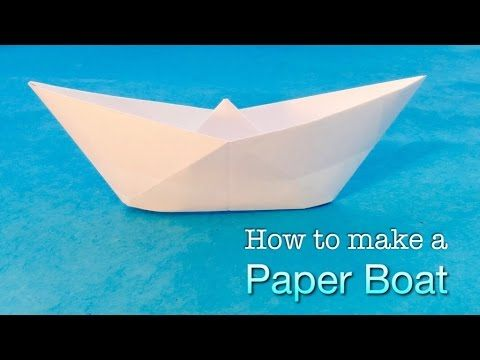 how to make a paper boat easy origami boat tutorial with decoration ideas origami. Black Bedroom Furniture Sets. Home Design Ideas