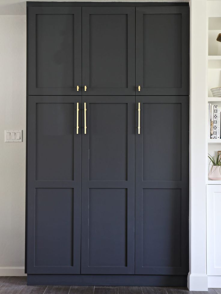 Our new built in pantry shaker doors pantry and doors - Bathroom pantry cabinets ...