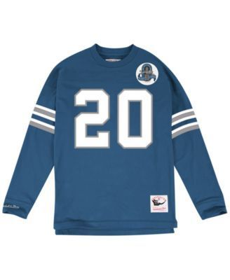 e6c0a5abed3 ... 20 Black Authentic Jerseys Sale Mitchell Ness Mens Barry Sanders  Detroit Lions Retro Player Name Numer Longsleeve ...