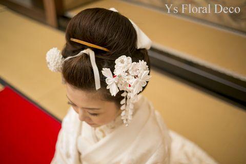 白無垢にあわせるボールブーケと、京都の髪飾り ys floral deco @前撮り撮影