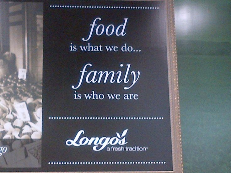 Food is what we do, FAMILY is who we are!