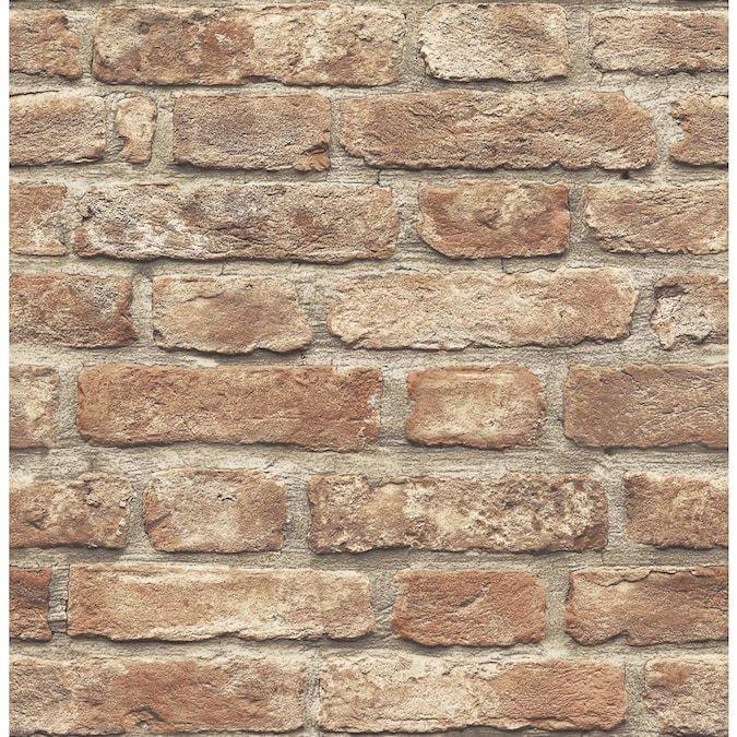 Scott Living 30 75 Sq Ft Red Vinyl Brick Self Adhesive Peel And Stick Wallpaper Lowes Com Peel And Stick Wallpaper Textured Brick Wallpaper Red Brick Wallpaper