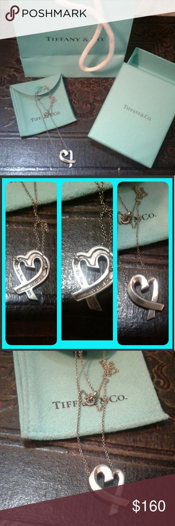 Authentic Beautiful tiffanys heart necklace This is beyond beautiful very well made and feminine great ecu condition... *no swaps looking to sell only* this is Tiffany's desighned by paloma piccaso it's got a Hood weight and is the large pendant. Will not include box and bag. Tiffany & Co. Jewelry Necklaces