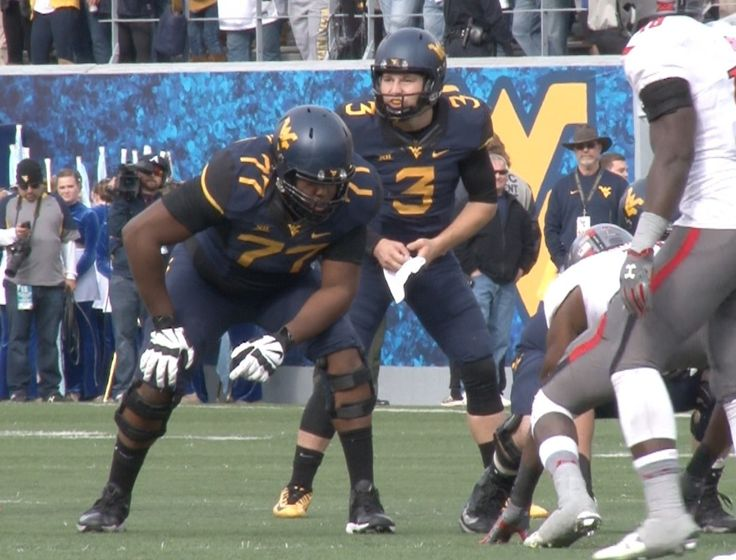 Marcell Lazard (77) lines up for his first career start at WVU.