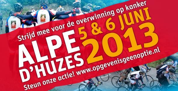 Actiepagina Alpe dHuZes, op deze pagina vindt u de acties van onze deelnemers. www.opgevenisgeenoptie.nl
