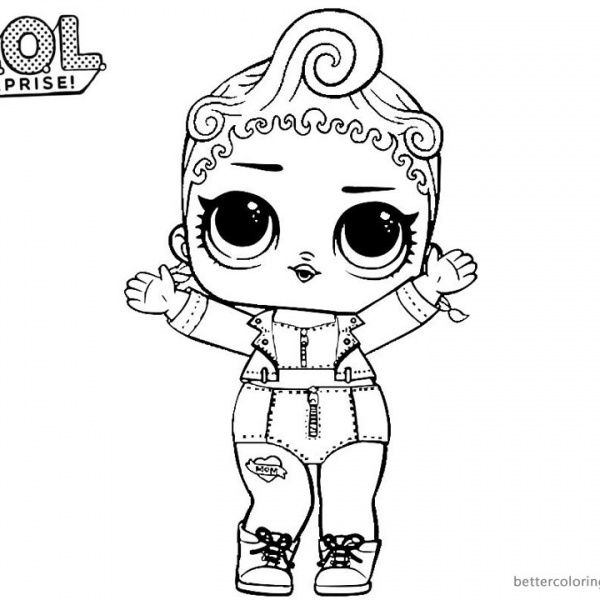 Coloring Template Printable Coloring Pages For Girls Lol Dolls