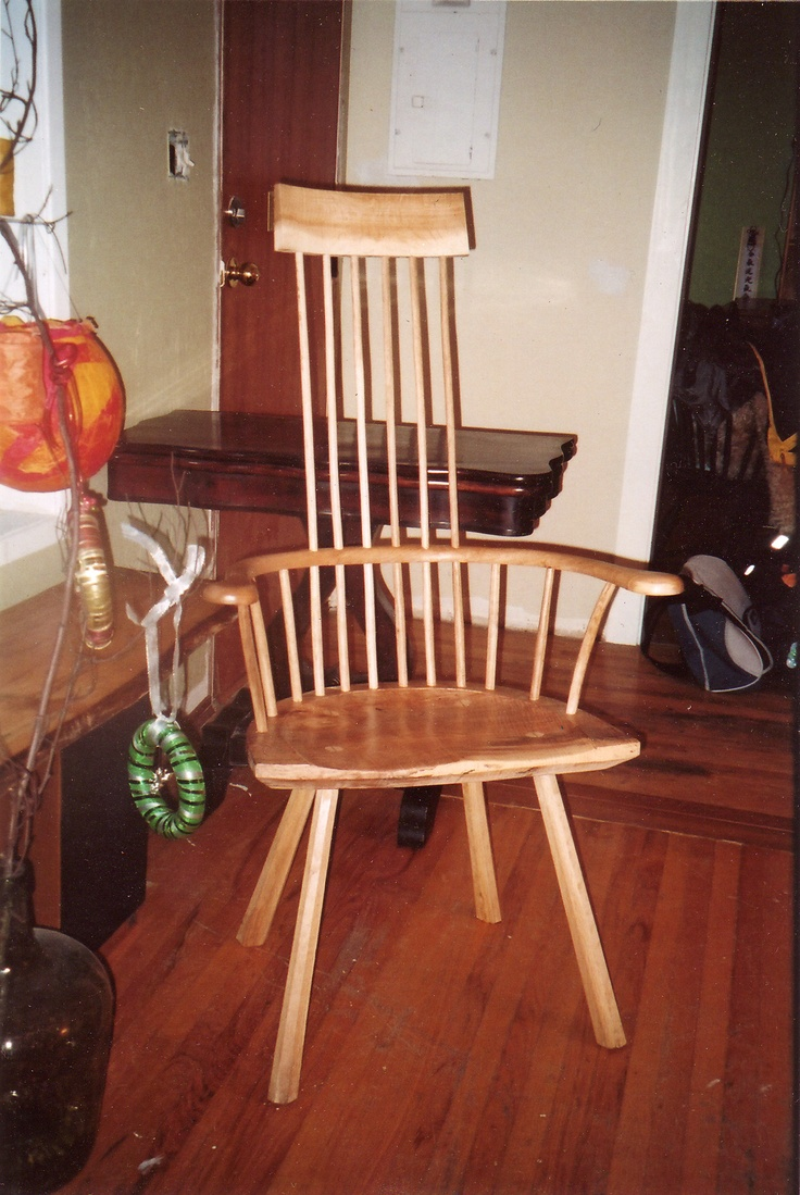 Price reduced sturdy wooden vintage rocking chair made in yugoslavia - Oak And Maple Stick Chair Sawn Arm Rocking Chairsticks